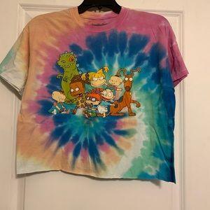 Nickelodeon Rugrats tie dye crop top M